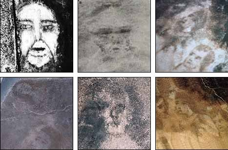 Pictures of each Belmez face. Are they caused by supernatural means...or are they fake?